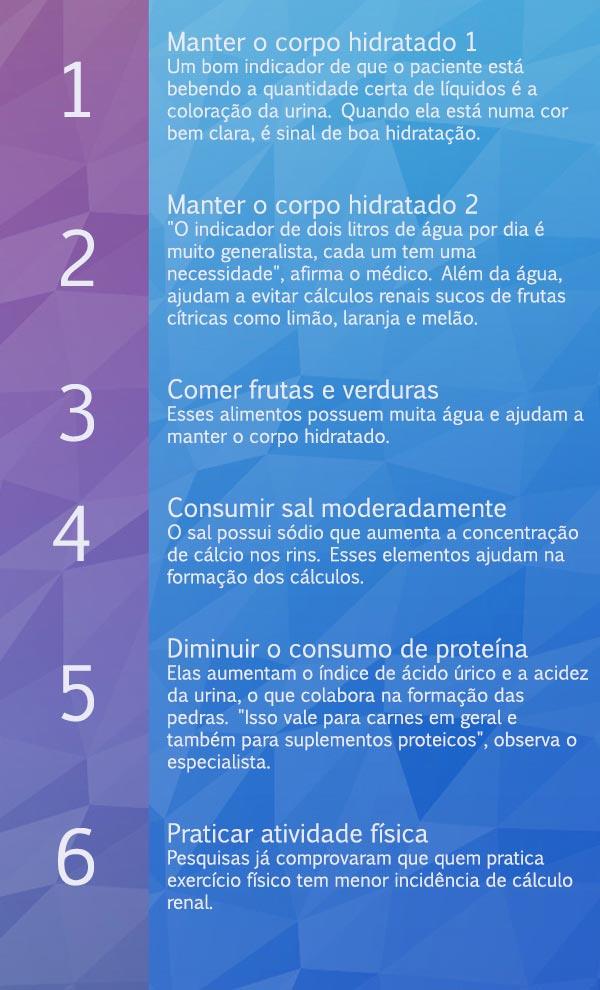 dieta para evitar cálculos renales